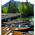 Jenny Lake Boats by Joan  Minchak