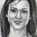 Jessica Alba Portrait by Alban Dizdari