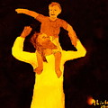 Jesus And Little Boy 1 by Richard W Linford