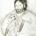 Jesus Holding Lamb by Sonya Chalmers