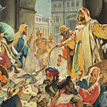 Jesus Removing The Money Lenders From The Temple by James Edwin McConnell