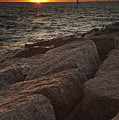 Jetties At Port Aransas Texas Gulf Coast by Andre Babiak