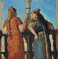 Jewish Women At The Balcony In Algiers by Theodore Chasseriau
