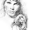 Jim Morrison Faces by David Lloyd Glover