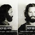 Jim Morrison Mugshot by Bill Cannon