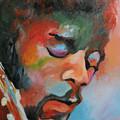 Jimi Hendrix At Monterrey by Angelo Thomas