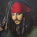 Johnny Depp- Captain Jack by Charolette A Coulter