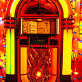 Juke Box With Christmas Lights by Garry Gay