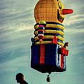 Just Passing Through  Hot Air Balloon by Bob Orsillo