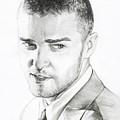 Justin Timberlake Drawing by Lin Petershagen