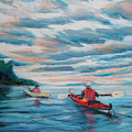 Kayakers by Synnove Pettersen