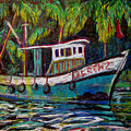 Kerala Fishing Boat  by Art Nomad Sandra  Hansen