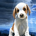 King Of The World-beagle Puppy by Daniel Pierce