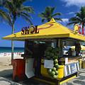 Kiosk On Ipanema Beach by George Oze