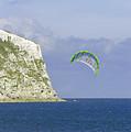 Kitesurfer At Yaverland by Rod Johnson