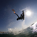 Kitesurfing In The Mediterranean Sea  by Hagai Nativ