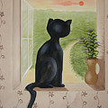 Kitty In The Window by Karen R Scoville