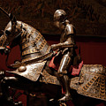 Knight And Horse In Armor by Lorraine Devon Wilke