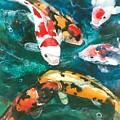 Koi V by Patricia Allingham Carlson