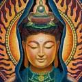 Kuan Yin Flame by Sue Halstenberg