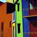 La Boca Street Scene One by JoeRay Kelley