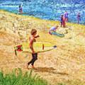 La Jolla Surfers by Marilyn Sholin