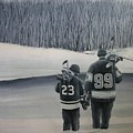 La Kings In Black And White by Ron  Genest