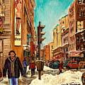 La Senza St Catherine Street Downtown Montreal by Carole Spandau