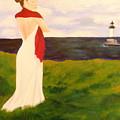 Lady At The Ocean by Jennifer Hernandez