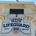 Laguna Beach Lifeguard Tower by John Loyd Rushing