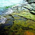 Lake Erie Flat Rocks  by Beth Akerman