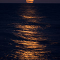 Lake Michigan Moonrise by Steve Gadomski