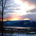 Lake Okanagan Sunset At Vernon by Will Borden