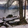 Lake Pend D'oreille At Humbird Ruins 1 by Lee Santa