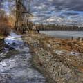 Lake Pend D'oreille At Humbird Ruins by Lee Santa
