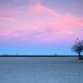 Lake Shore Evening by Donald Schwartz