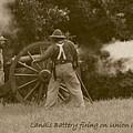 Landis Battery Firing On Union Advance by David Dunham