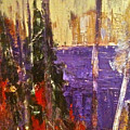 Landscape Abstract In Purple by Mary-Lynn Bastian