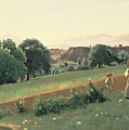 Landscape At Mornex by Jean Baptiste Corot