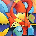 Landscape Figure Abstract by Gary Coleman