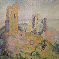 Landscape With A Ruined Castle  by Paul Signac