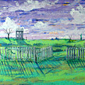 Landscape With Fence by Rollin Kocsis