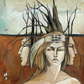 Landscaped Headdress by Jacque Hudson