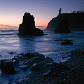 Last Light At Ruby Beach by Winston Rockwell