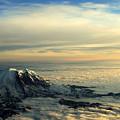 Last Light On Rainier II by Shelley Dick