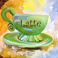 Latte Coffee Cup by Jai Johnson