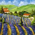 Lavender Scene by Richard T Pranke