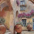 Le Arcate In Cortile by Guido Borelli