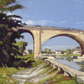Le Pont Canal A Briare by Henri Joseph Harpignies