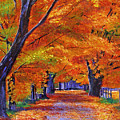 Leafy Lane by David Lloyd Glover